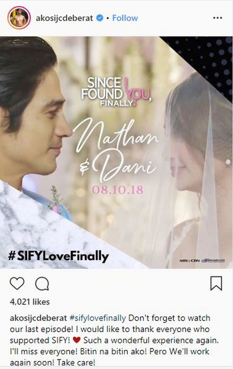 Since I Found You stars post thank you messages to their fans and supporters